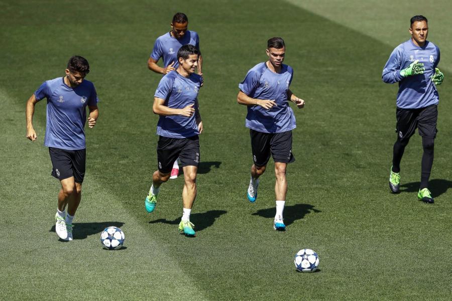 Enzo Zidane, Danilo, James Rodriguez, Pepe i Keylor Navas