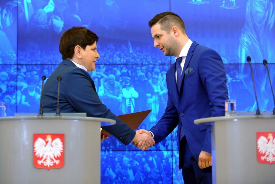 Beata Szydło i Patryk Jaki