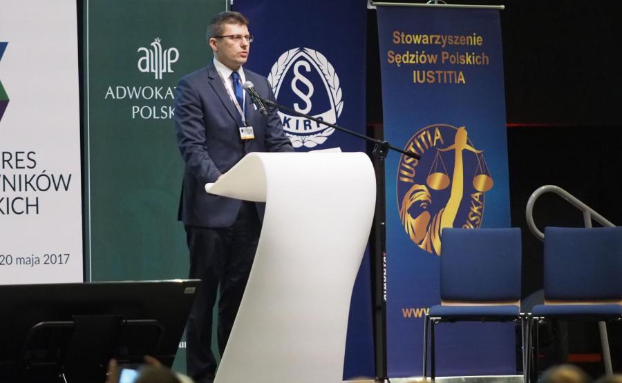 Wiceminister sprawiedliwości Marcin Warchoł na Kongresie Prawników Polskich