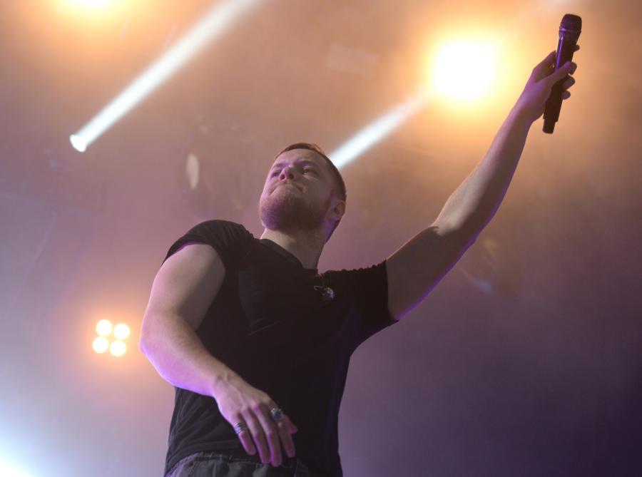 Amerykańska grupa Imagine Dragons podczas koncertu w drugim dniu Orange Warsaw Festival 2017
