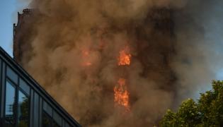 Londyn pożar apartamentowca