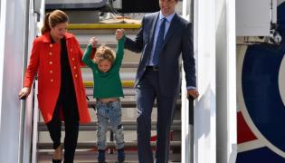 Justin i Sophie Gregoire Trudeau z synem Hadrienem