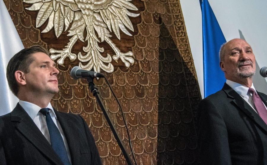 Bartosz Kownacki i Antoni Macierewicz