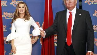 Figury woskowe Melanii i Donalda Trumpów