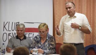 Grzegorz Schetyna na spotkaniu klubu obywatelskiego we Władysławowie