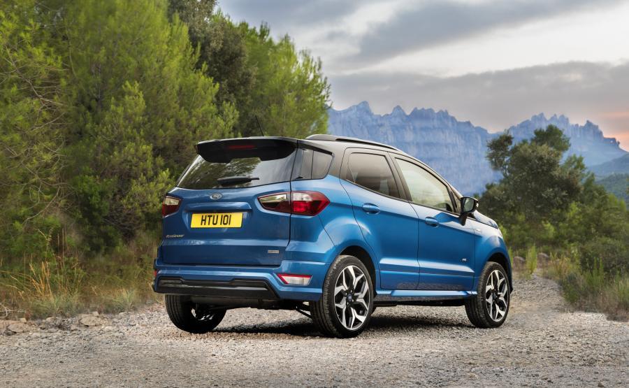 Producent wprowadzi też usportowioną wersja, którą stworzono inspirując się pojazdami ze stajni Ford Performance: EcoSport ST Line