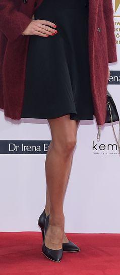 Marta Kaczyńska wybrała sukienkę odsłaniającą jej długie nogi