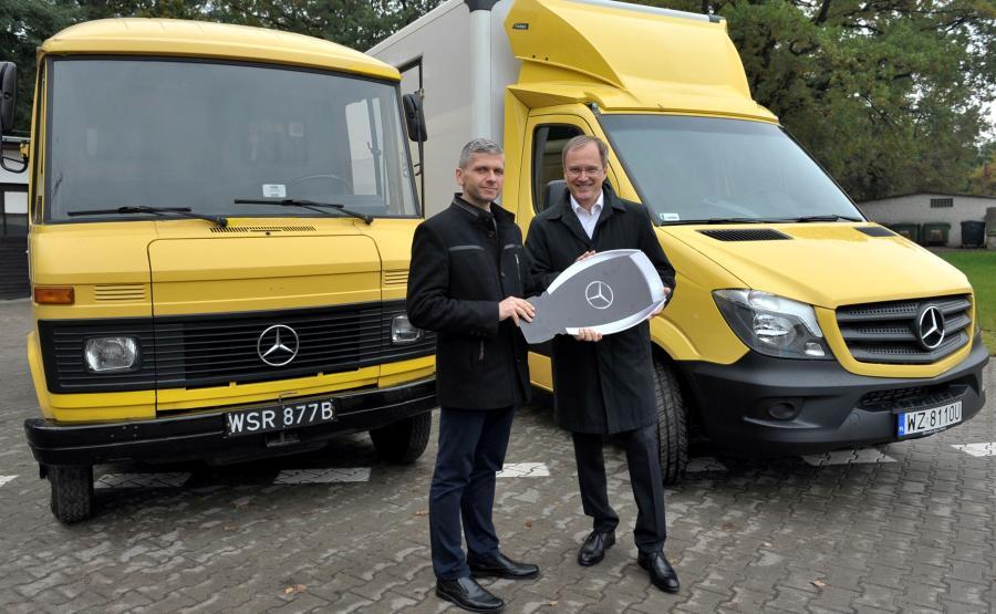 Mercedes podarował nowy samochód dostawczy, który dostosował specjalnie dla ośrodka w Laskach