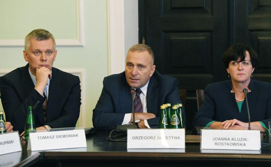 Tomasz Siemoniak, Grzegorz Schetyna i Joanna Kluzik-Rostkowska