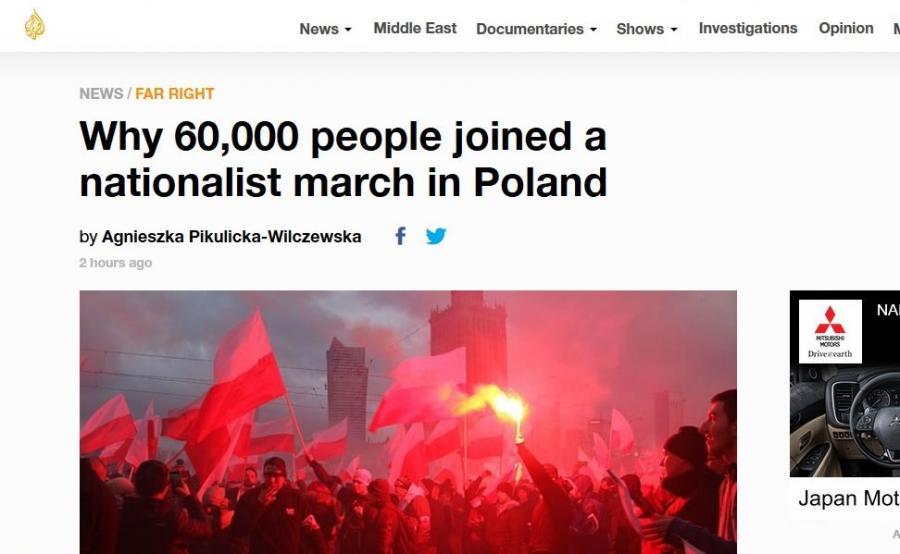 Al-Jazeera o Marszu Niepodległości