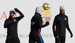 Ousmane Dembele, Ivan Rakitic i Lionel Messi