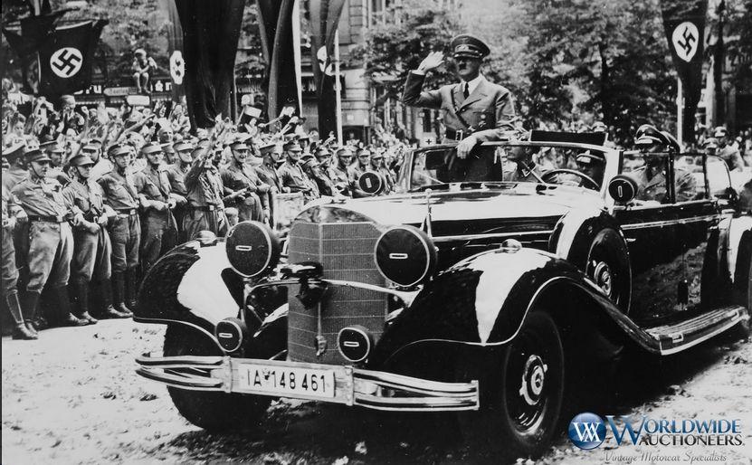 Adolf Hitler i Mercedes 770K Grosser Offener Tourenwagen