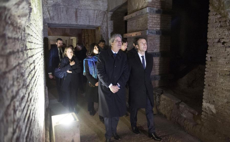 Paolo Gentiloni i  Emmanuel Macron