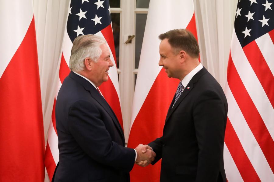 Rex Tillerson, Andrzej Duda
