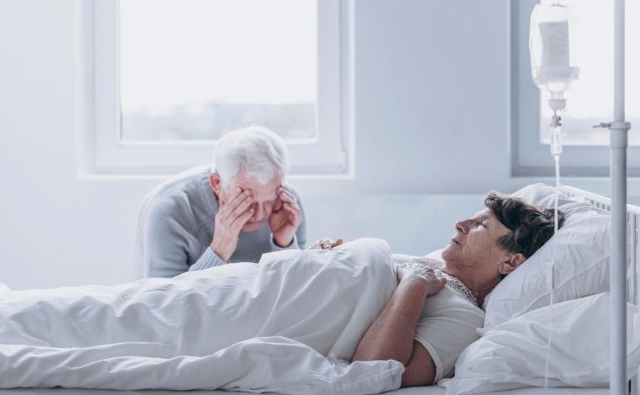 Chory w szpitalu