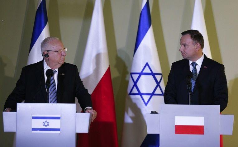 Reuwen Riwlin i Andrzej Duda