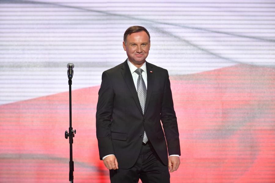 Prezydent Andrzej Duda na Gali Olimpijskiej w Warszawie