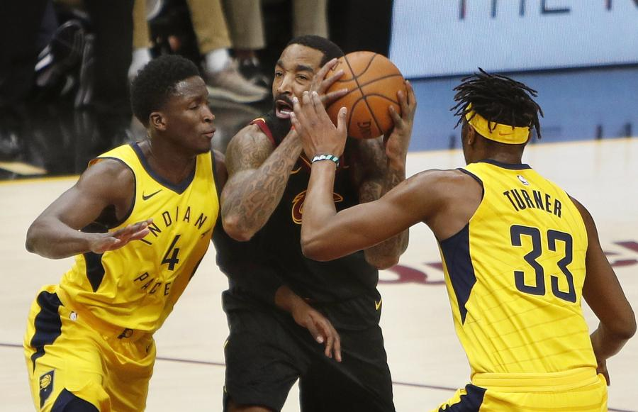 Victor Oladipo, Myles Turner i JR Smith