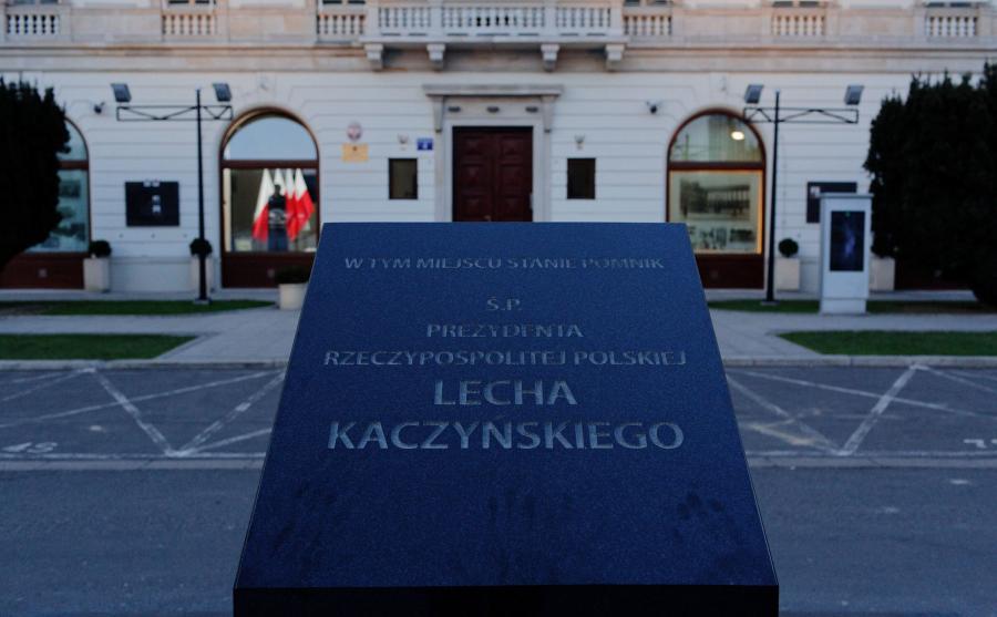 Miejsce, gdzie stanie pomnik Lecha Kaczyńskiego