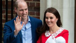 Kate i William przed szpitalem