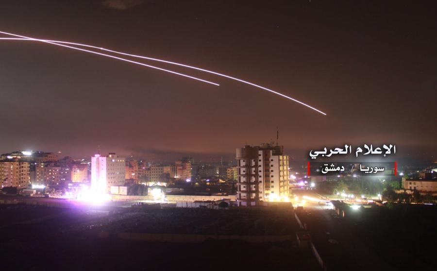 Rakiety nad Damaszkiem