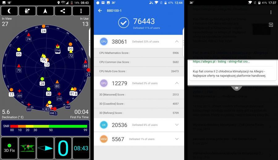 GPS, AnTuTu Benchmark, Privacy Shade