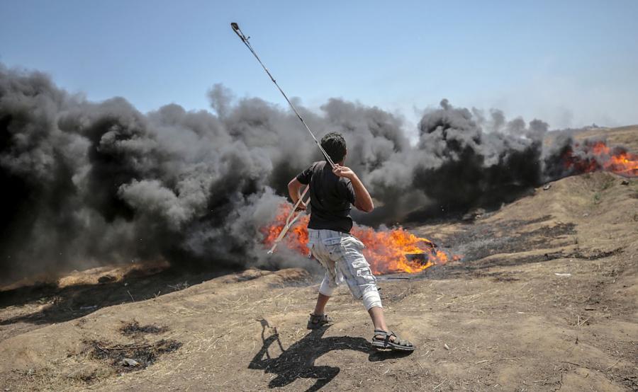 Protesty w Strefie Gazy