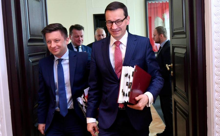 Michał Dworczyk i Mateusz Morawiecki
