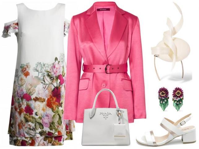 STYLIZACA na ślub: Sukienka-Midori Feminine Fashion/midori.pl, buty-Caprice/caprice.pl, żakiet, dodatki-TK Maxx