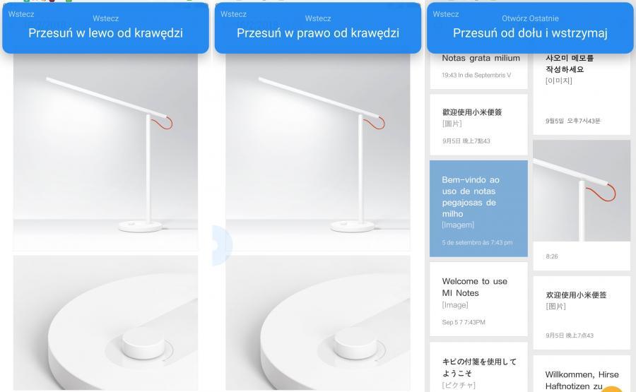 Xiaomi Mi Mix 2s - gesty