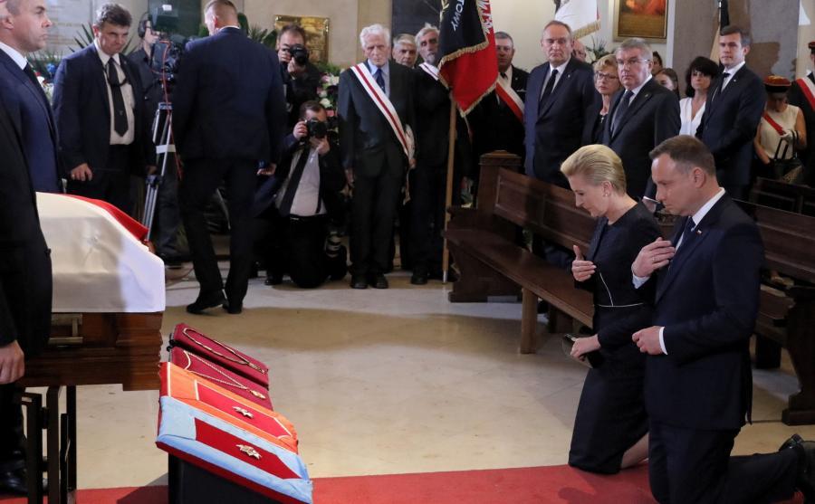 Para prezydencka na pogrzebie Ireny Szewińskiej