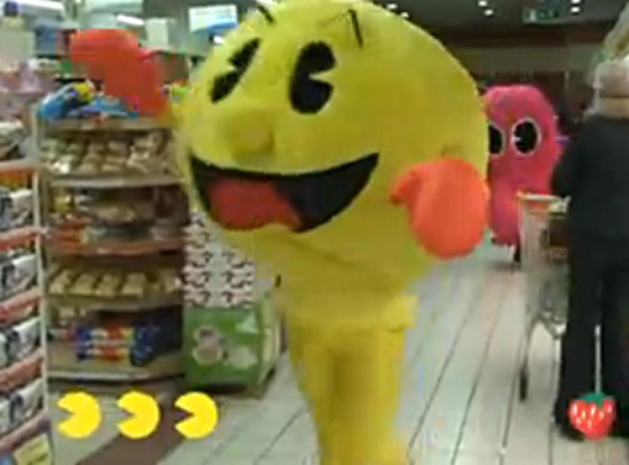 Pac-Man z wizytą w supermarkecie
