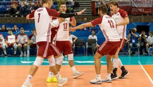Radość Polaków po zdobytym punkcie podczas meczu z Kubą