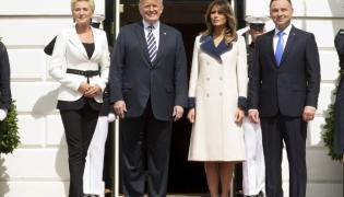 Agata Kornhauser-Duda i Donald Trump oraz Melania Trump i Andrzej Duda