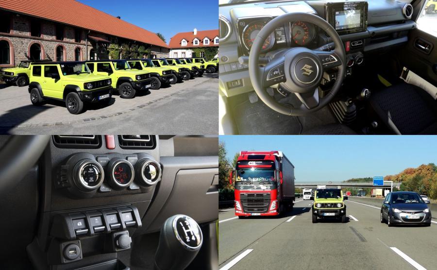 Suzuki Jimny w najwyższej odmianie XLED oferuje m.in. 6 poduszek powietrznych (poprzednik miał tylko dwie), asystenta pasa ruchu, system pomagający zapobiec najechaniu na poprzedzający pojazd, w pełni diodowe światła, nawigację, Bluetooth, wielofunkcyjną kierownicę i automatyczną klimatyzację