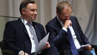 Prezydent Andrzej Duda i szef RE, Donald Tusk