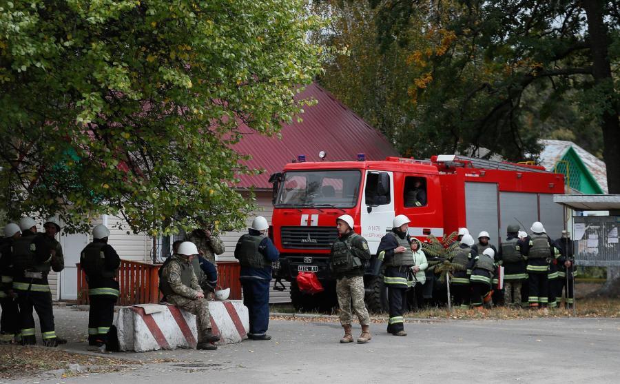 Pożar składów amunicji na Ukrainie