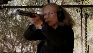 "Jamie Lee Curtis jako Laurie Strode w filmie ""Halloween"""