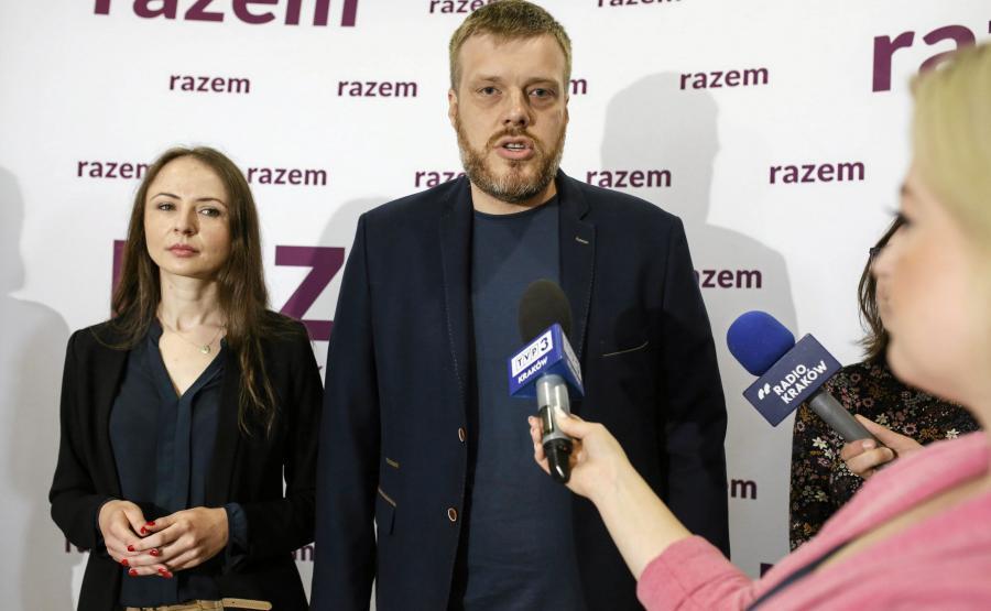 Agnieszka Dziemianowicz-Bąk i Adrian Zandberg z Partii Razem