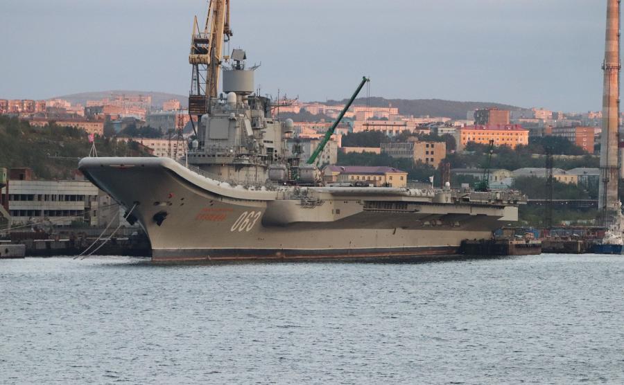 rosyjski lotniskowiec Admirał Kuźniecow