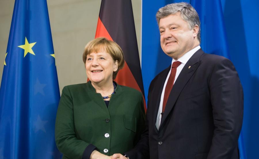 Angela Merkel i Petro Poroszenko
