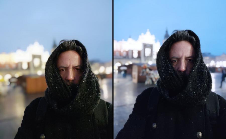 Zdjęcia selfie z telefonów Mi 8 i Mi 8 Pro - tryb portretowy