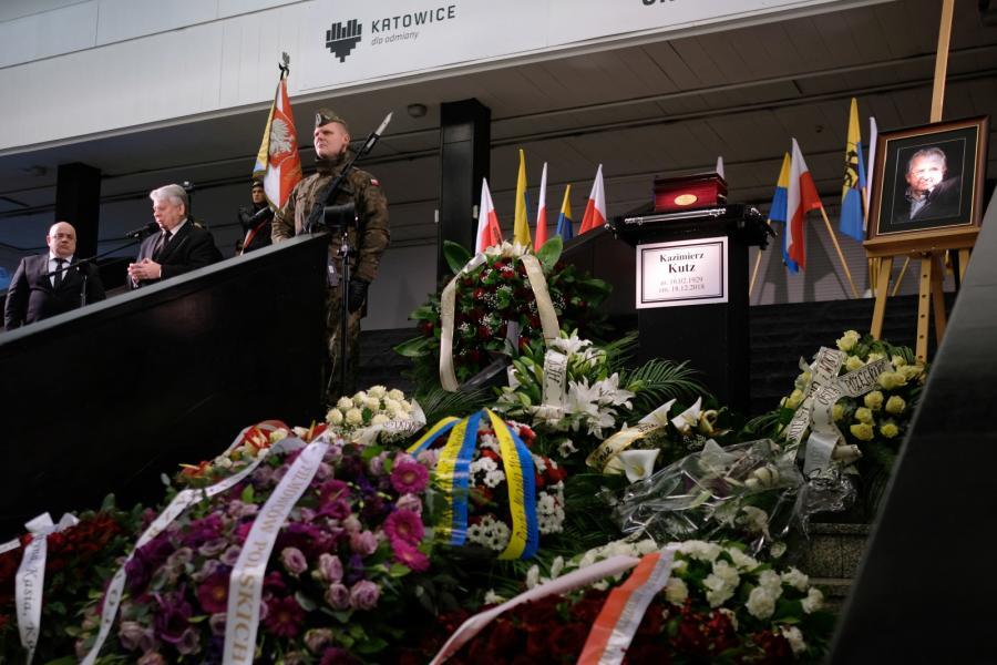 Pogrzeb Kazimierza Kutza w Katowicach