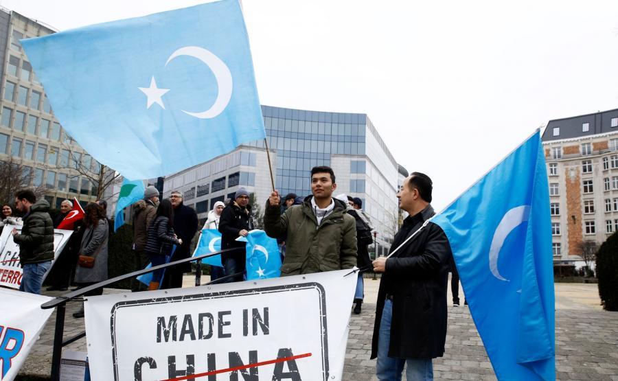 Protest w obronie Ujgurów