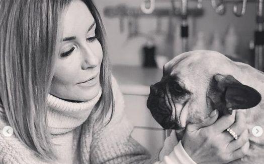 Małgorzata Rozenek z psem Marianką