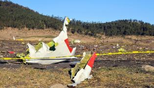 Miejsce katastrofy etiopskiego samolotu