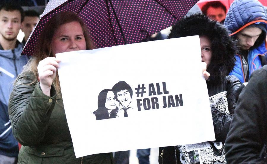 Demonstracja po śmierci Jana Kuciaka