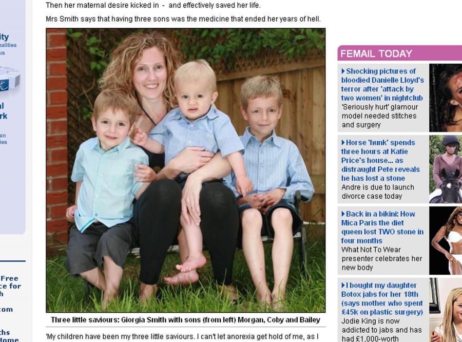 Dzieci uratowały ją przed anoreksją