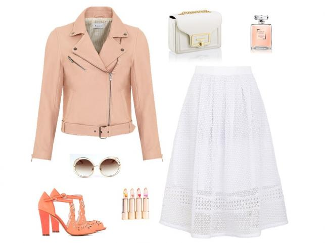 Wiosenne STYLIZACJE z ubraniami w kolorze pudrowego różu
