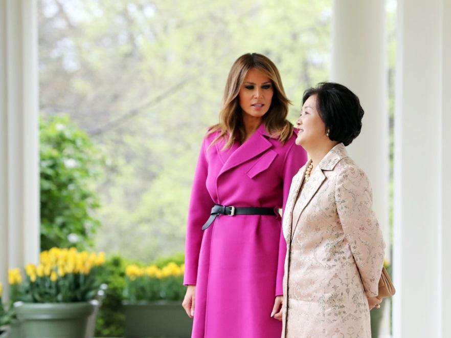 Melania Trump i Kim Jung-sook